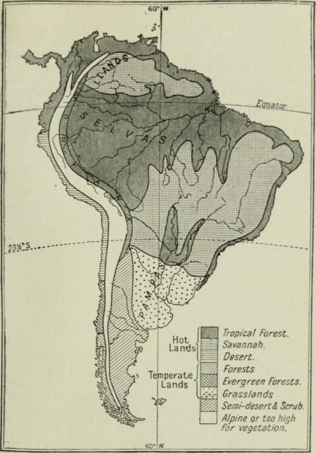 Latin America from a regional geog of the world (1922)